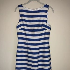 NWT Blue and White Stripe Sheath